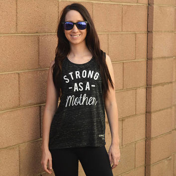 Strong As A Mother Muscle Tank Top. Strong Mom Shirt. New Mom Shirt. Toddler Mom Shirt. Mother Shirt. Mom Workout Tank Shirt. Mom Gym Tank.