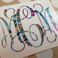 Lilly Pulitzer Vine Monogram | Vine Monogram | Fancy Monogram | Lilly Monogram | Lilly Double Monogram | Preppy Monogram |