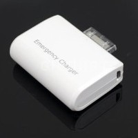 ecomgear Portable AA Battery Emergency Charger For Apple iPhone 4S/4G/3G/3GS and iPod, White