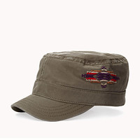 Southwestern-Embroidered Military Cap