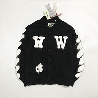 OFF-WHITETROND LIFE OW 2017 Baseball Coat Jacket S--XL