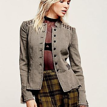 Free People Womens Victorian Lace Up Jacket