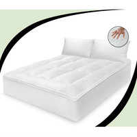 Full size Cotton Feather Bed Mattress Topper with 2 Pillows