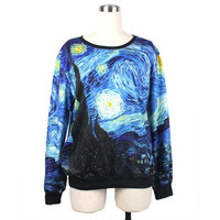 Women/Men Vincent Van Gogh Starry Night Hoodies Pullover