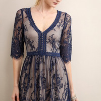 Vintage Lace Fit and Flare Dress