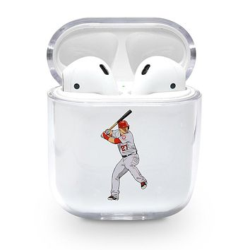 Mike Trout Angels Airpods Case