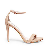 Ankle Strap Heels in White, Gold & Red | Steve Madden STECY