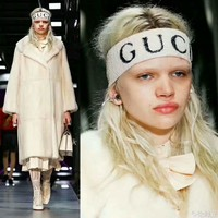 GUCCI Hot Crochet Knit Knitted Headwrap Headband Warmer Head Hair Band I-AGG-CZDL
