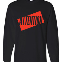 """Charlie Puth """"Attention"""" Unisex Adult Long Sleeved T-Shirt"""