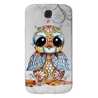 Whimsical Patterned Owl Samsung Galaxy S4 Case