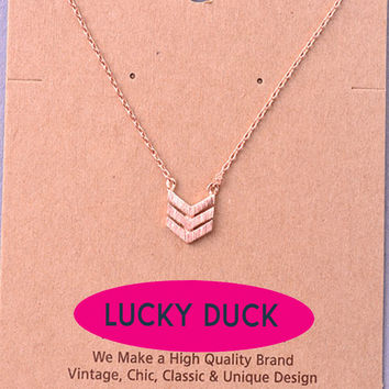 Dainty Rose Gold Arrow Necklace