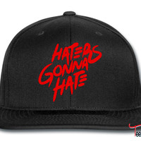 haters gonna hate_red snapback