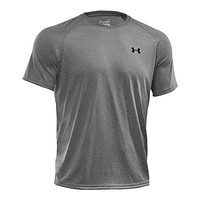 Men's UA Tech™ Short Sleeve T-Shirt in True Gray Heather/Black by Under Armour