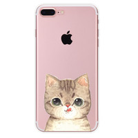 I'm still hungry!  Cat Case for iPhone 7 7Plus & iPhone se 5s 6 6 Plus High Quality Cover +Gift Box-90