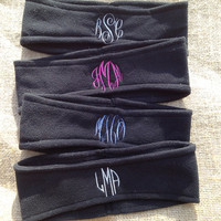 Monogrammed Fleece Headband