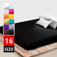 Plain Fitted sheet twin full queen king size,one piece bed sheet/bedsheet mattress cover protective case bed linen bedding #15
