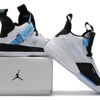 Air Jordan XXXIII Basketball Shoes - White/Black/Blue