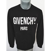 ca kuyou GIVENCHY PARIS NEW TAGS BRAND SWEATSHIRT SWEATER NOW BLACK WARM WINTER ANY SIZES