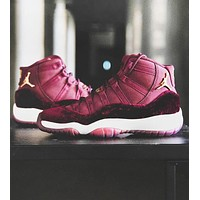 Air Jordan 11 Tide brand men's and women's sports cushioning basketball shoes Red