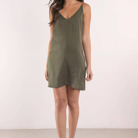 Sade Satin Cami Shift Dress