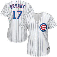 Kris Bryant Chicago Cubs Majestic Women's 2015 Cool Base Player Jersey - White