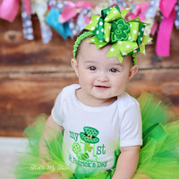 My First St. Patrick's Day Tutu Outfit, My First St. Patrick's Day Tutu Set, Baby's First St. Patrick's Day