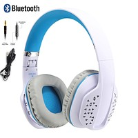 Foldable Wired Wireless Headset With Mic Sport Hi-Fi Stereo Sound Hands Free Headphone For PC Laptop Computer Game Headset