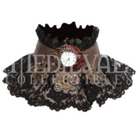 Steampunk Timepiece Lace Collar - RL-SP073 by Medieval Collectibles