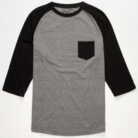 Retrofit End On End Mens Baseball Tee Black/White  In Sizes
