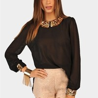 Taylor Sparkle Top - Black at Necessary Clothing