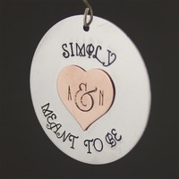 Nightmare Before Christmas - Simply Meant to Be - Custom Ornament - Spiffing Jewelry