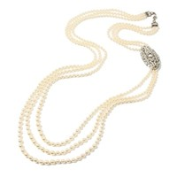 Belle Epoque Long Multi-Strand Necklace with Deco Pendant | BEN-AMUN