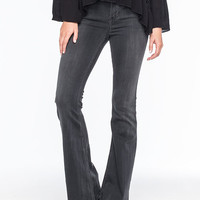 Celebrity Pink Washed Womens Flare Jeans Black Denim  In Sizes