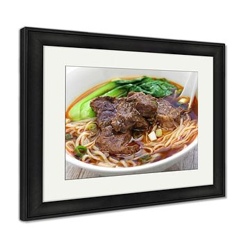 Framed Print, Taiwanese Beef Noodle Soup