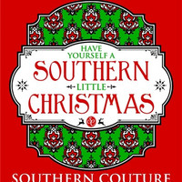 Southern Couture Southern Little Christmas Xmas Red Girlie Bright T Shirt
