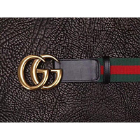 New Men Gucci GG belt Black Leather Gucci Belt With Gold Buckle10