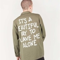 IT'S A BEAUTIFUL DAY Vintage Army Jacket/Shirt