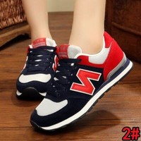 """New Balance"" Fashion Women Men Casual All-Match N Words Sport Breathable Couple Sneakers Shoes 2#"