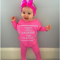 Newborn Infant Kids Baby Girl Clothes Cotton Romper Long Sleeve Letter Jumpsuit Casual Clothing Baby Girls Outfit