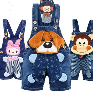 1 2 3T Baby Clothing Boys Girls Jeans Overalls Shorts Toddler Infant Denim Rompers