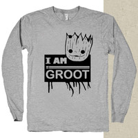 I am Groot Guardians of The Galaxy t-shirt long sleeves happy feed