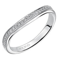 "Artcarved ""Peyton"" Curved Diamond Wedding Band"