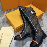 LV Louis Vuitton Women Heels Shoes Boots 2017 knight boot