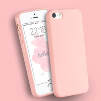 Solid Candy Color TPU Rubber Case Cover for iPhone 7 7 Plus Silicon Case Glossy Back Cover for iPhone 4 4s 5C 6 6s 6 Plus Cases