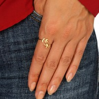 Gold Leaf Dainty Ring