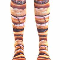 Stacked Donut Knee High Socks