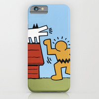 Keith Haring + Charles Schulz iPhone & iPod Case by Jared Yamahata