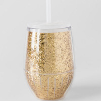 Travel Stemless Wine Cup In Gold