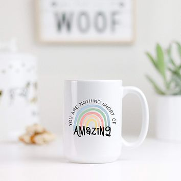 Nothing Short of Amazing Rainbow Mug