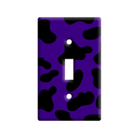 Cow Print Purple Light Switch Plate Cover